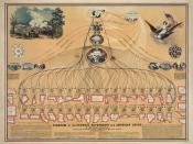 Diagram of US Federal Government and American Union. Published: 1862, July 15.