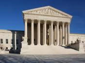 English: United States Supreme Court building in Washington D.C., USA. Front facade.