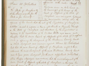 McCulloch V. Maryland decision, March 6, 1819, Minutes of the Supreme Court of the United States,