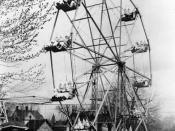 El Ku Klux Klan divirtiéndose en una noria (Cañon City, 192X)