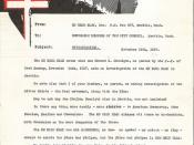 Ku Klux Klan letter, 1937
