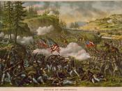 English: Battle of Chickamauga Deutsch: Die Schlacht von Chickamauga Polski: Bitwa pod Chickamauga