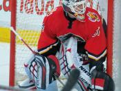 English: Miikka Kiprusoff of the Calgary Flames