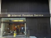 Exterior of the Internal Revenue Service office in midtown New York.
