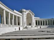 The amphitheater at Arlington National Cemetery just across the Memorial Bridge from Washington, DC.