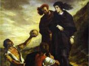 Eugène Delacroix, Hamlet and Horatio in the Graveyard (1839, oil on canvas)