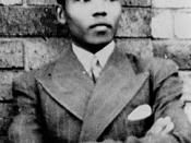 English: Young Nelson Mandela. This photo dates from 1937. South Africa protect the copyright of photographs for 50 years from their first publication. See . Since this image would have been PD in South Africa in 1996, when the URAA took effect, this imag