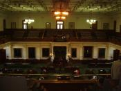 English: The Senate Chamber of the Texas Capitol Español: Sala de Senadores, Capitolio de Texas