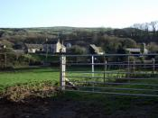 English: Cronllwyn farm In mediaeval times there was a gentleman's house or small mansion here that would have been occupied by a landed family holding superior status in the social system of the time.