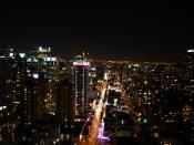 Robson Street at night, Vancouver, BC, Canada