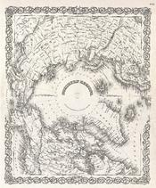 1855 Colton Map of the Arctic or North Pole - Geographicus - NorthernRegions-colton-1855