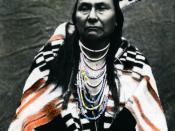 Image Title: Chief Joseph Description/Notes: Early settlement of Oregon. Chief Joseph was the leader of the Nez Perces tribe. He is famous among Americans for his leadership of his tribe in the Nez Perces War. He died 21 September 1904 on the Colville Ind