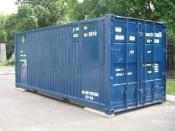 English: A 20-foot long ISO container Русский: Двадцатифутовый контейнер