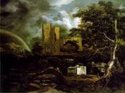 One of the paintings by Jacob van Ruysdael