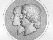 English: Robert Schumann and Clara Schumann Français : Robert Schumann et Clara Schumann Deutsch: Robert Schumann und Clara Schumann, nach einem Relief von Ernst Rietschel