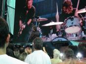 Max Weinberg watches as his son takes over the drumsticks on Born to Run