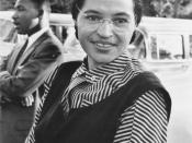 English: Photograph of Rosa Parks with Dr. Martin Luther King jr. (ca. 1955) Mrs. Rosa Parks altered the negro progress in Montgomery, Alabama, 1955, by the bus boycott she unwillingly began. National Archives record ID: 306-PSD-65-1882 (Box 93). Source: