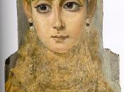 Mummy portrait of a young woman, 2nd century, Louvre, Paris.