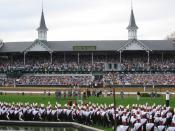 Churchill Downs—with the University of Louisville Marching Band in the foreground—during the 2006 Kentucky Derby.