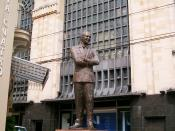 A statue of Gardel outside the Abasto Market in Buenos Aires, near where he grew up