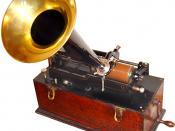 Deutsch: Edison Home Phonograph, Suitcase-Modell