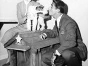 Publicity photo of Phyllis Kirk and Peter Lawford as Nick and Nora Charles, along with