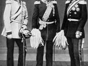 Bismarck, (left), with Roon (center) and Moltke (right). The three leaders of Prussia in the 1860s