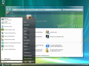 Windows Vista was one of Microsoft's client operating systems, which featured a new visual style, Windows Aero.