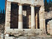 The reconstructed Treasury of Athens, built to commemorate their victory at the Battle of Marathon