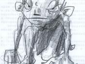 Gollum from The Lord of the Rings and The Hobbit by J. R. R. Tolkien.