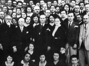 Mustafa Kemal Ataturk at the establishment of Turkish Historical Society