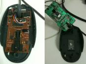 English: Mouse printed circuit board SOLDER side