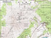 Topographical map of Mauna Loa