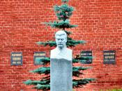Stalin's Grave by the Kremlin Wall Necropolis