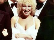 actress/singer Bette Midler at the premiere of Midler's movie