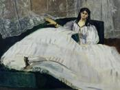 Baudelaire's Mistress, Reclining represents Jeanne Duval, mistress of Charles Baudelaire