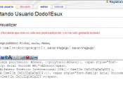 Unicode rendering in Internet Explorer 6.0 - note no UI elements of the browser are shown