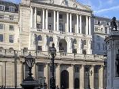 The Bank of England in Threadneedle Street, London. Deutsch: Sitz der Bank von England in der Londoner Threadneedle Street.