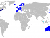 English: Countries included in the Visa Waiver Program Português: Países incluídos no Visa Waiver Program