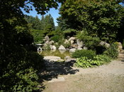 Friendship Garden, a Japanese garden in Hope, British Columbia. The garden was built by local Japanese Canadians to commemorate the Japanese Canadians who were interned nearby at Tashme Camp, during World War II.