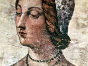 English: Portrait of Laura, celebrated in his poetry by Francesco Petrarca (1304-1374), Italian poet and humanist. Portrait in the Laurentian Library, Florence