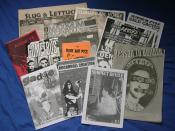 Selection of British and American punk zines, 1994-2004