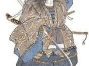 A samurai wielding a naginata.