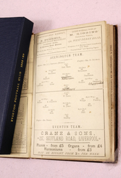 English: Official programme from Everton F.C. for their first ever League match which was against Accrington F.C.