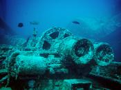 English: A Winch and associated parts sitting on the deck of the SS Thistlegorm. The Thistlegorm, a transport ship, was sunk by a German bomber, during the Second World War, on 5 October 1941 near Ras Muhammad in the Red Sea. The wreck was originally loca