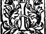 Initial I from the 1st (1895) Henry Holt & Company edition of H. G. Wells' The Time Machine