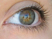 English: My hazel eyes