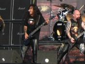 English: American band Slayer at the Fields of Rock festival, June 2007