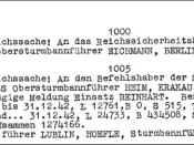 This document, the so-called Höfle Telegram, confirms at least 434,508 Jews killed at Belzec in 1942