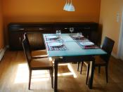 English: Dining room in a home in the United States Deutsch: Esszimmer in einem Privathaus in den Vereinigten Staaten